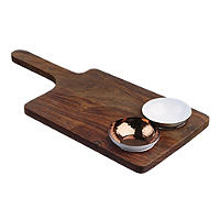 Just Slate Wooden Serving Paddle and Bowl Set