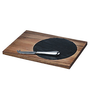 Just Slate Medium Acacia Antipasti Set