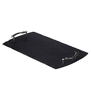 Just Slate Large Serving Tray with Antler Handles