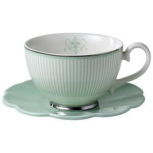 Eclectic Green Teacup & Saucer
