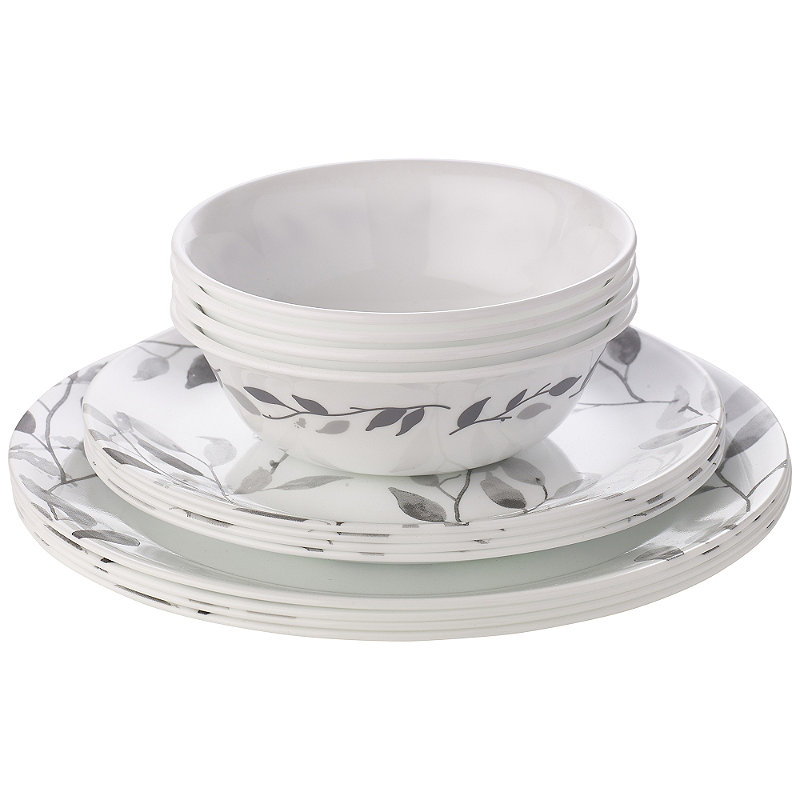 Corelle® 12-Piece Misty Leaves Dinner Set