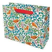 Festive Robins Large Gift Bag