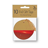 10 Red Foil Gift Tags