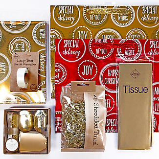 Jazz Red & Gold Gift Wrap Pack alt image 1