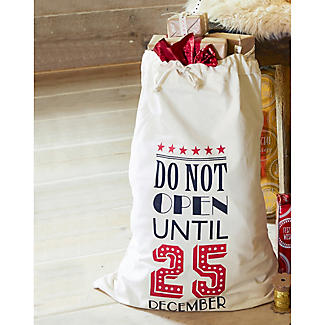 Festive Canvas Gift Sack