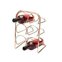 Hahn Pisa 6-Bottle Copper-Plated Wine Rack