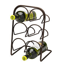 Hahn Pisa 6-Bottle Antique Bronze Wine Rack