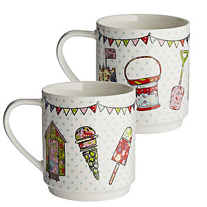 The Caravan Trail 2 Stacking Mugs