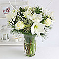 Nordic Pearl Bouquet with Free Express Delivery