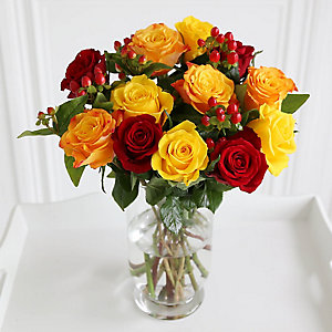 Fairtrade Autumn Roses Bouquet with Free Express Delivery