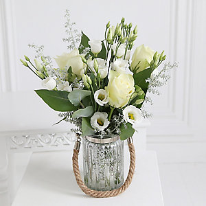 Frosted Moonlight Lantern Bouquet with Free Express Delivery