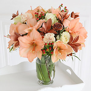 Peach & Copper Bouquet with Free Express Delivery