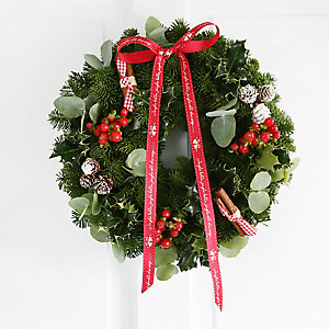 Eucalyptus and Cinnamon Wreath with Free Express Delivery