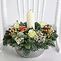 Festive Candle Arrangement  with Free Express Delivery
