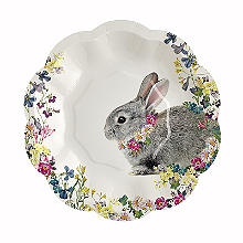 12 Truly Bunny Paper Plates