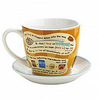 """Sticky Toffee Pudding """"Aus der Tasse"""" mit Untertasse"""