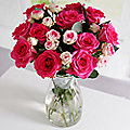 Cerise Roses Bouquet With Free Express Delivery