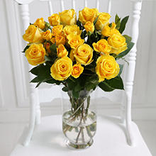 Sunshine Roses Bouquet With Free Express Delivery