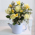 Sunlit Garden Teapot Bouquet With Free Express Delivery