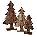 Wooden Christmas Tree Trio