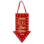 LED Santa Stop Here Light-Up Christmas Sign