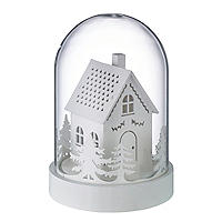 LED Wooden House Dome Christmas Decoration
