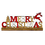 LED Merry Christmas Wooden Decoration