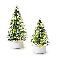 Dekoratives LED-Weihnachtsbaum-Duo