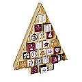 Wooden Tree-Shaped Fillable Advent Calendar