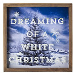 LED Framed Winter Scene Christmas Decoration