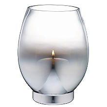 Mirrored Glass Hurricane Lantern Candle Holder