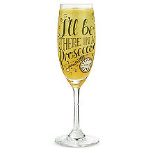 "Bellini-Rezeptglas ""I'll Be There In A Prosecco"", 200 ml"