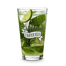 "Mojito-Rezeptglas ""Muddle through it"", 450 ml"
