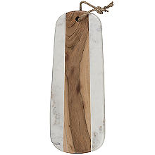 Naturals Long Marble Acacia Serve Board