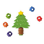 Christmas Tree Shaped Bottle Topper and Charms