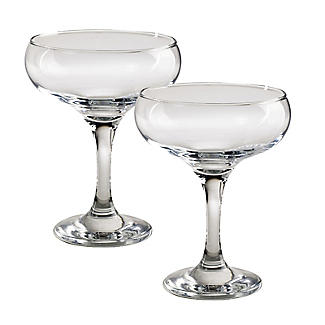 Champagne Saucer Coupe Glasses - Set of 2