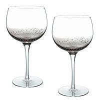Bubble Glass Balloon Gin Glasses - Set of 2