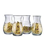 Glass Snack Servers Set of 4