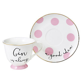 Ava & I Gin and Tonic Cup and Saucer alt image 3