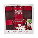 Christmas Jumper-Shaped Christmas Crackers - Pack of 6