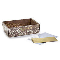 Metallic Robin and Holly Make Your Own Hamper Box