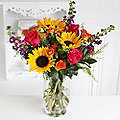 Sunflower Sunset Bouquet With Free Express Bouquet