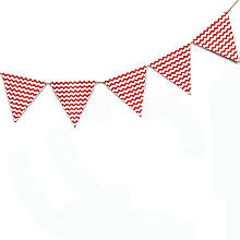 Carnival Partyware Red Waves Paper Bunting