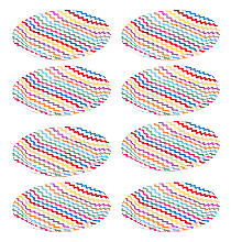 Carnival Partyware Multi Waves Paper Plates – Pack of 8