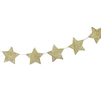 Rose Gold Wooden Star Bunting