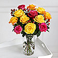 Sunset Roses Bouquet With Free Express Delivery