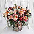 Burnished Copper Lantern Bouquet with Free Express Delivery