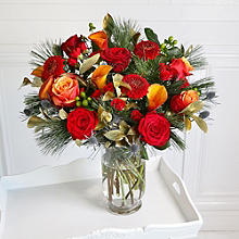 Luxury Christmas Bouquet and Vase with Free Express Delivery