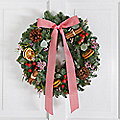 Deluxe Scents of Christmas Wreath with Free Express Delivery