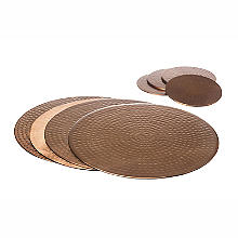 Just Slate Hammered Copper-Plated Place Mats and Coasters Set of 4